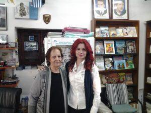 Η Θάλεια Χούντα με την αδερφή του Ευαγόρα Παλληκαρίδη